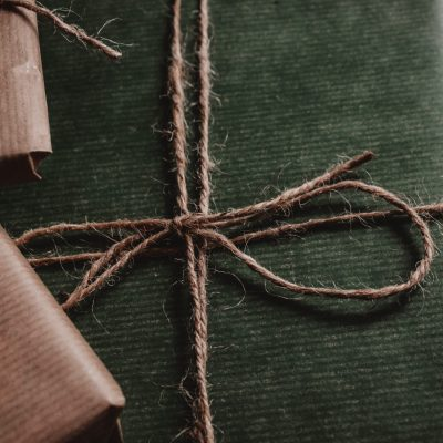 Canva - Green Box Tied With Brown String
